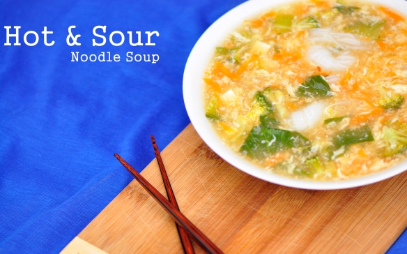 Hot and Sour Asian Noodle Soup