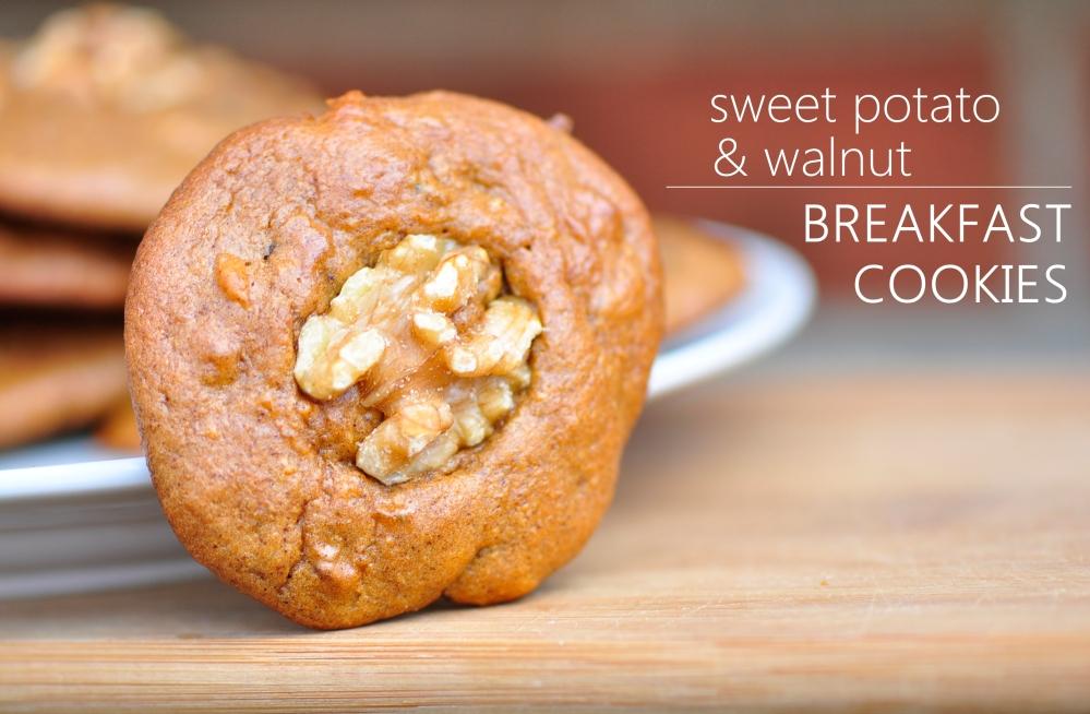 Sweet Potato Walnut Breakfast Cookies