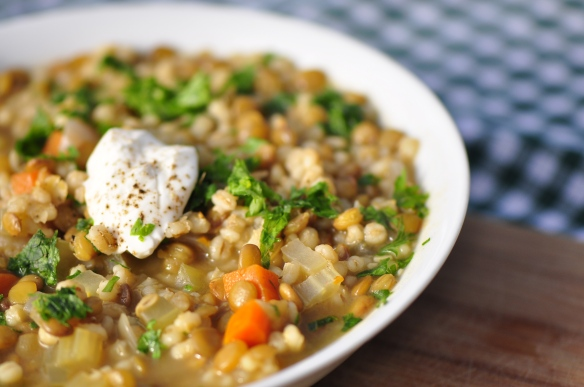 Hearty Lentil Barley Stew