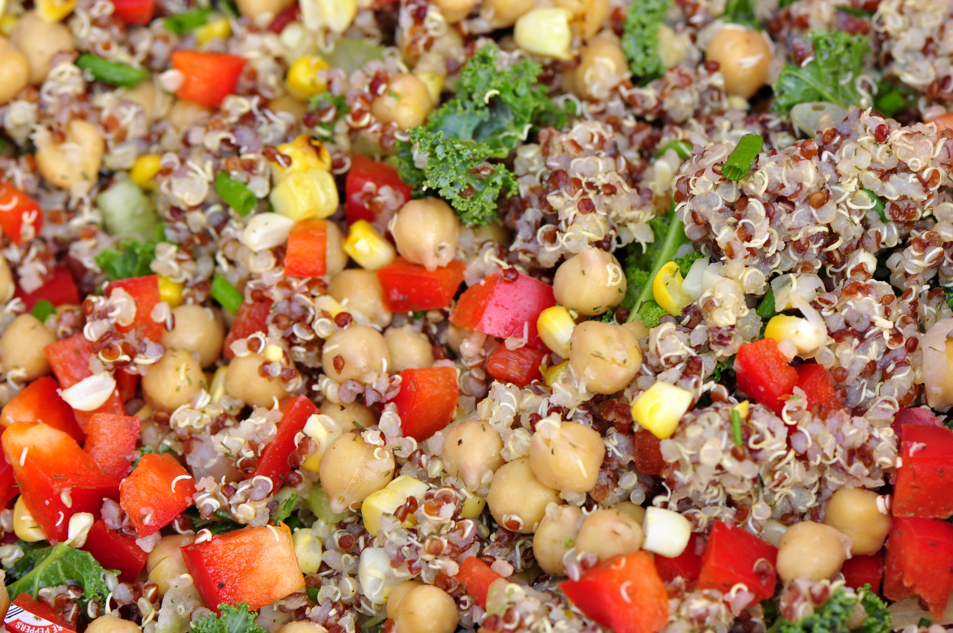 Grilled Corn and Summer Vegetable Quinoa Salad | the vegetarian ginger