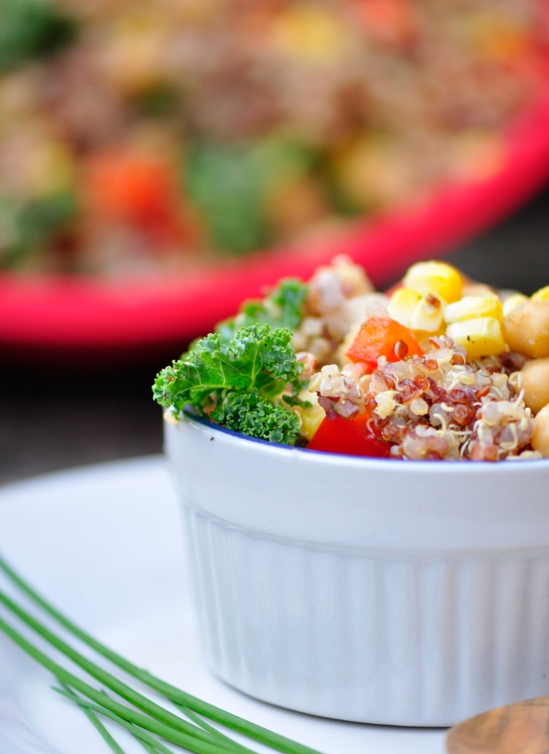 Grilled Corn and Summer Vegetable Quinoa Salad