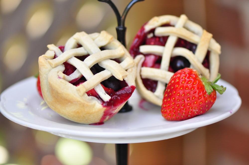 Mini mixed berry pies