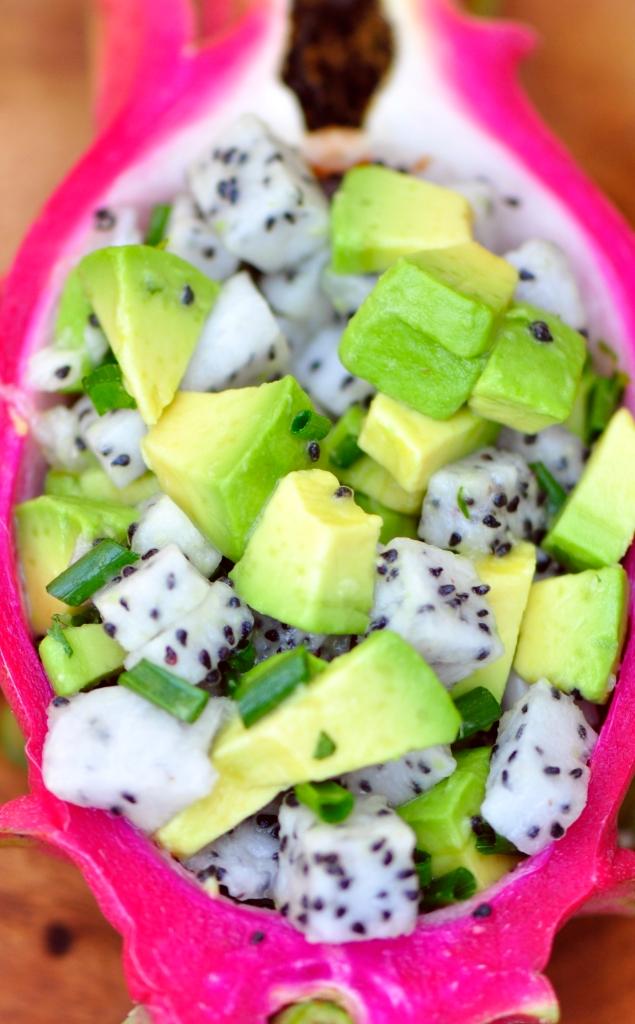 Dragon Fruit and Avocado Salsa