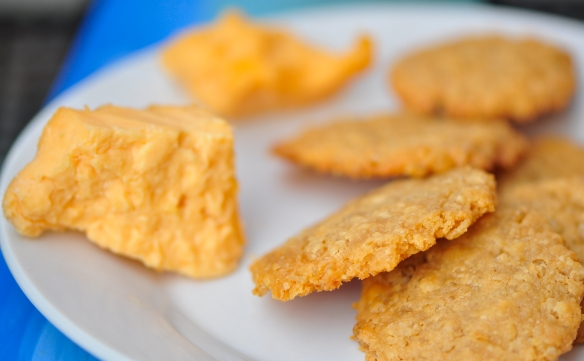 Crisped Rice and Cheese Wafers