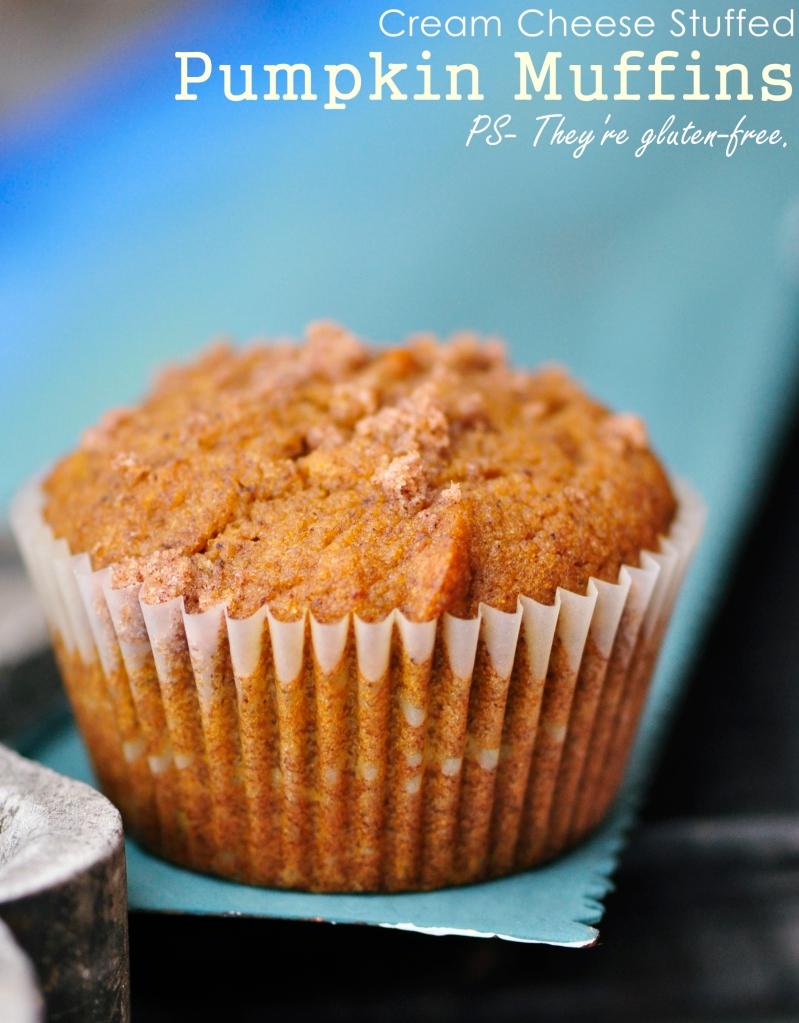 Gluten-Free Pumpkin Muffins with Cream Cheese Filling