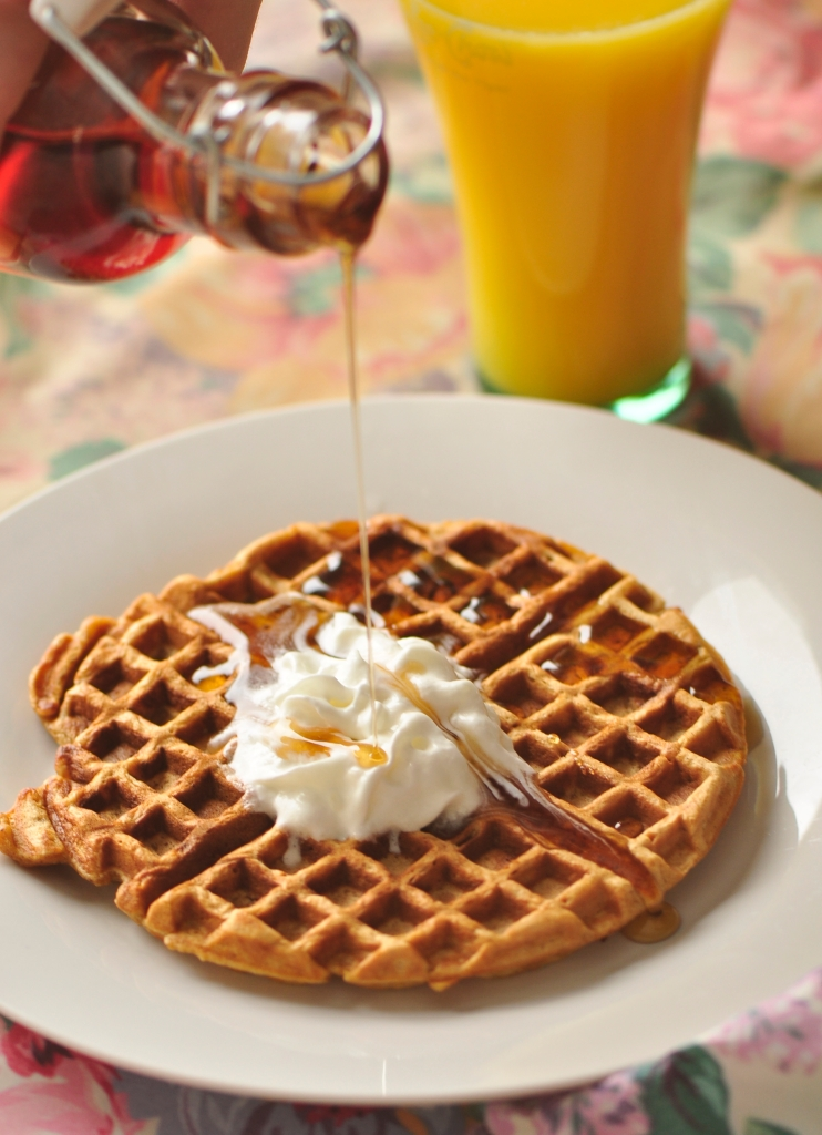 Brown Butter Gingerbread Waffles