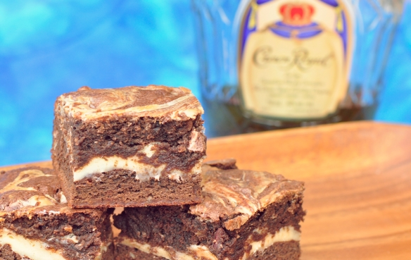 Deep Dish Brownies with Whisky and Cream Cheese