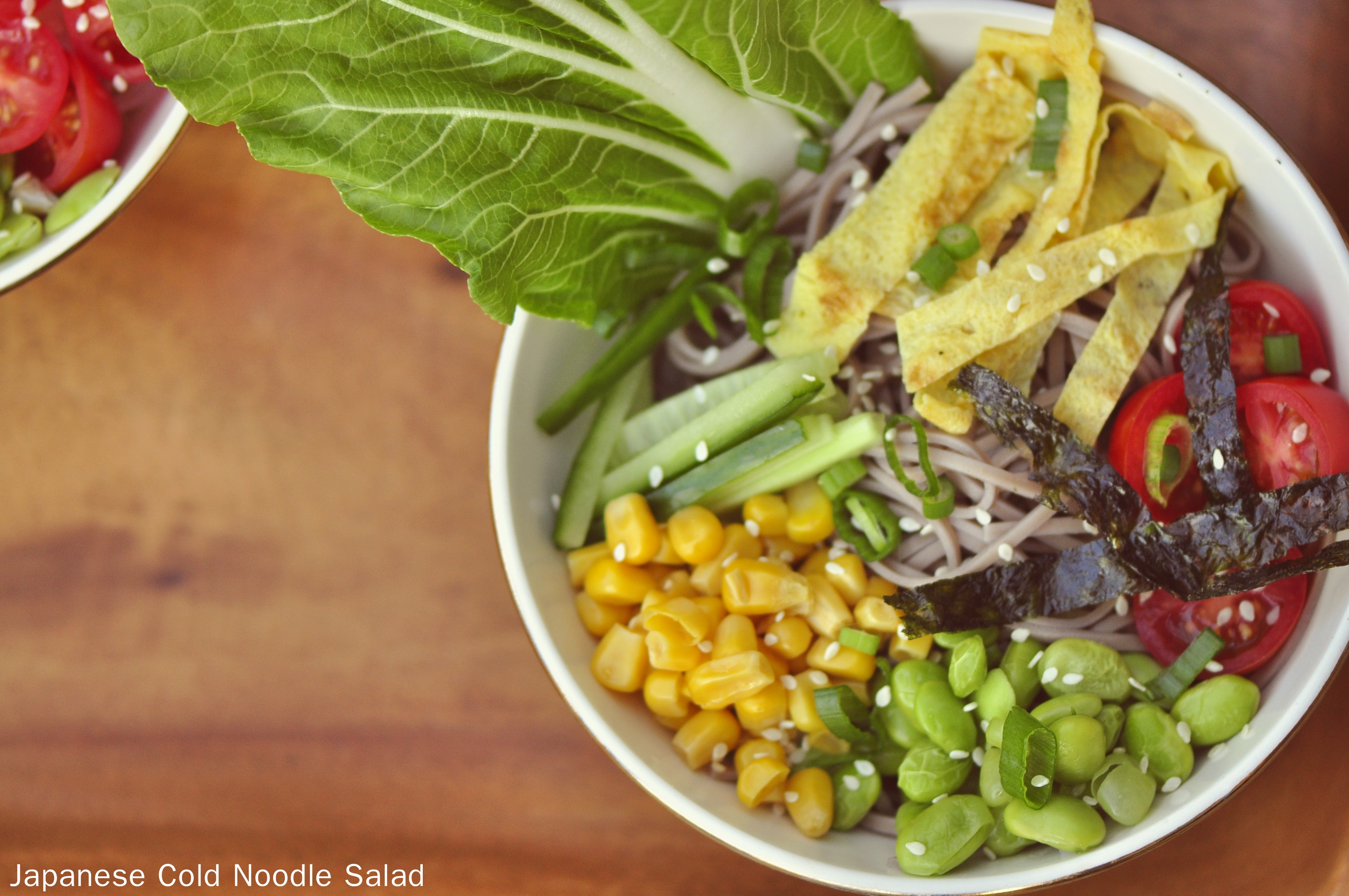 Japanese Cold Noodle Salad (Hiyashi Chuka) | the vegetarian ginger