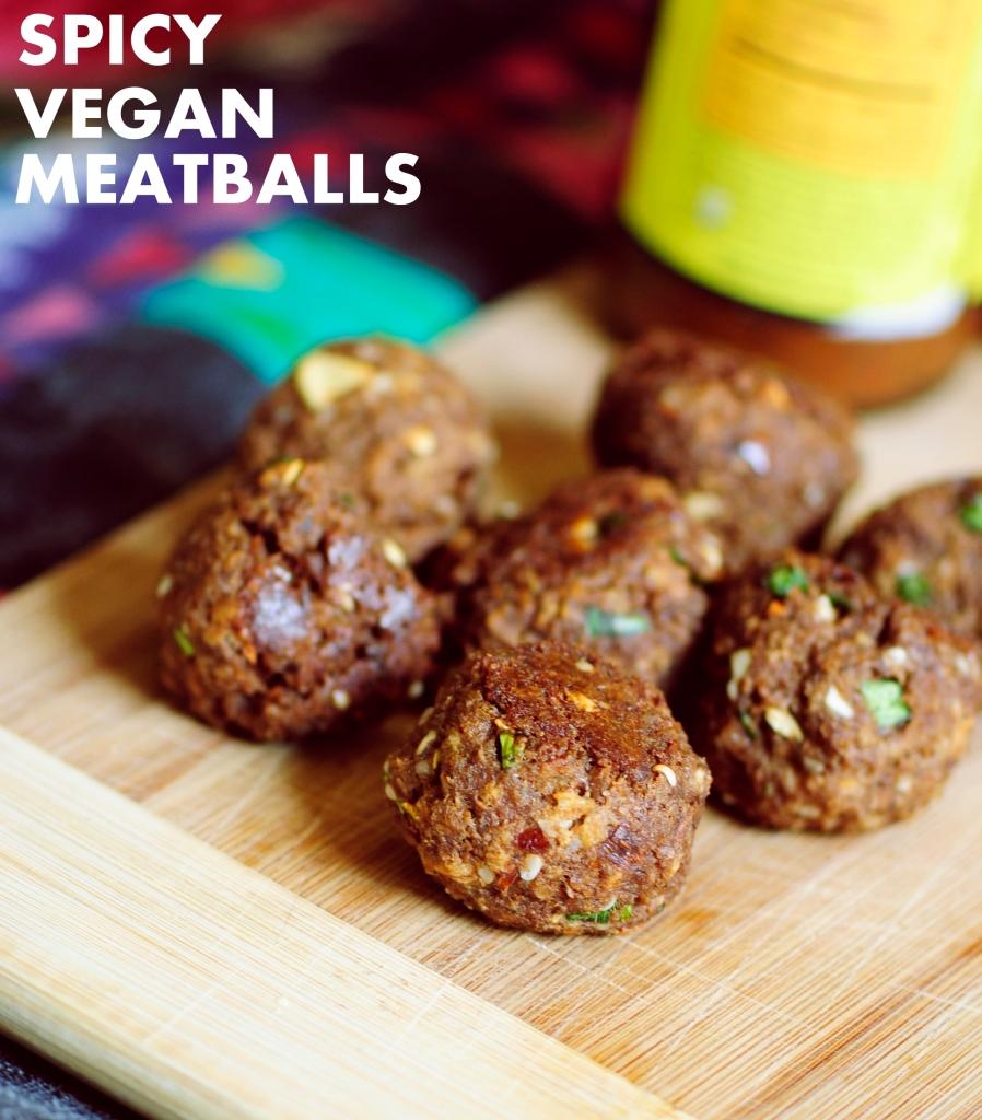 Spicy Vegan Meatballs