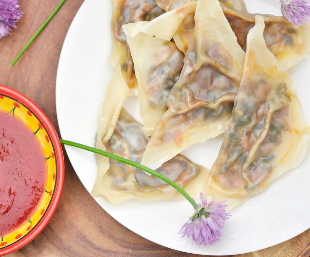 Steamed Chive Flower Dumplings