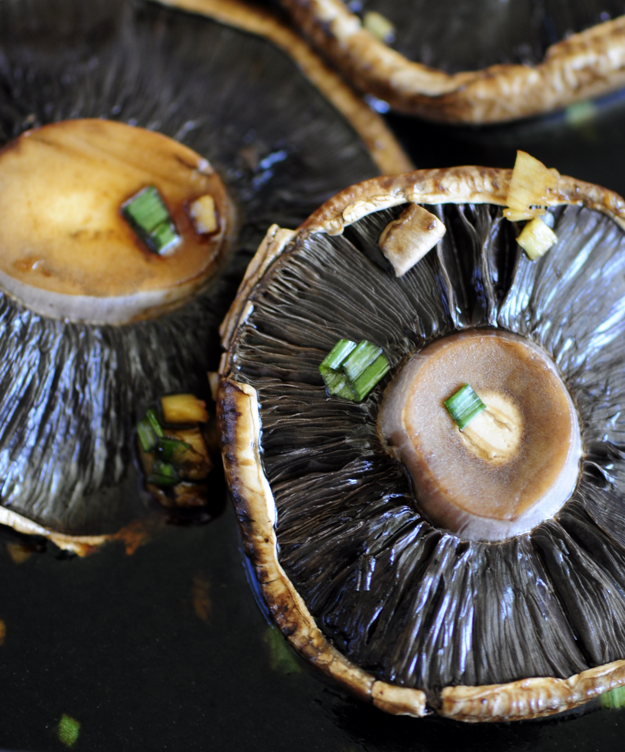 Asian Marinated Portobello Mushrooms | the vegetarian ginger