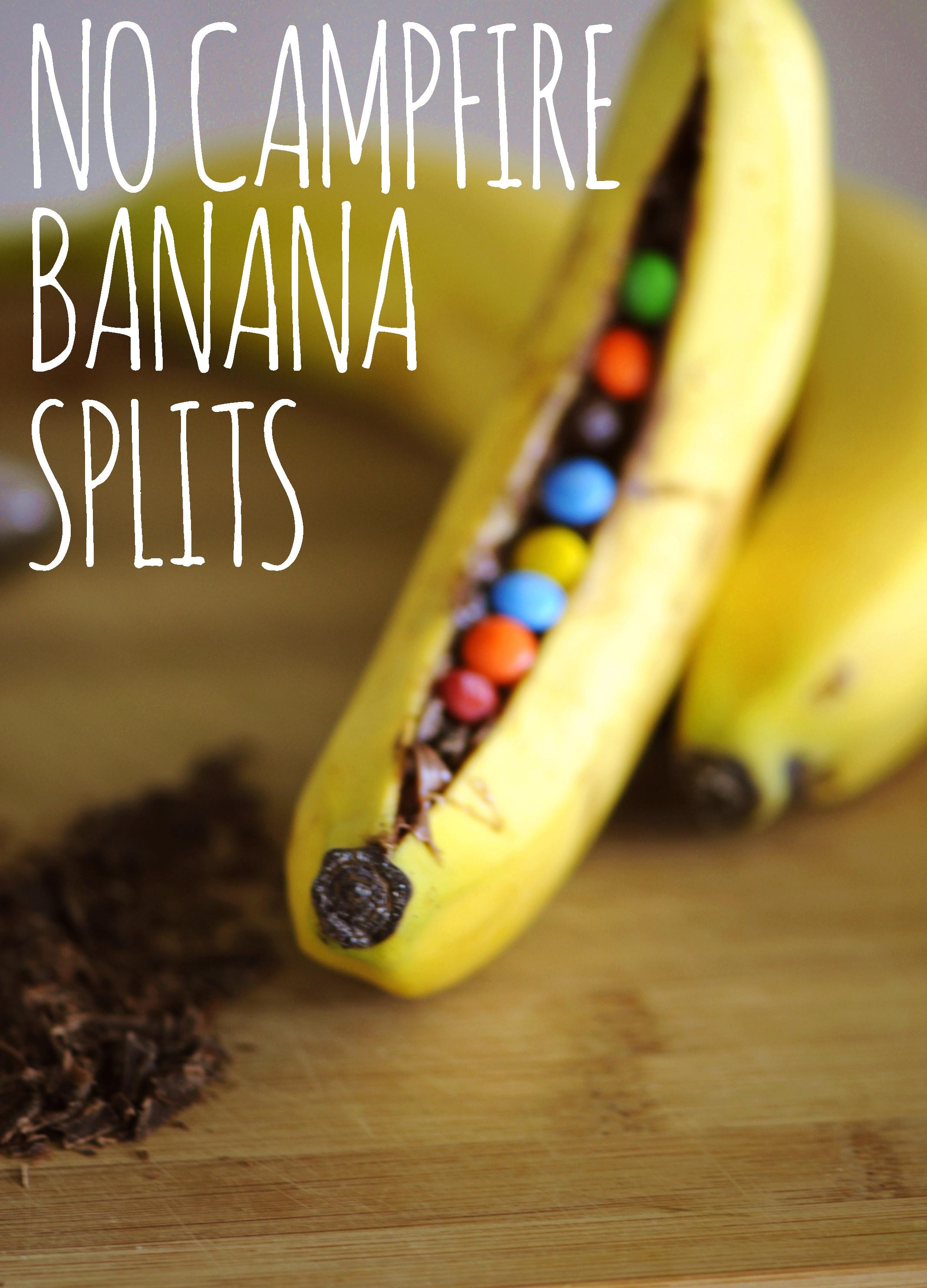 No Campfire Banana Splits