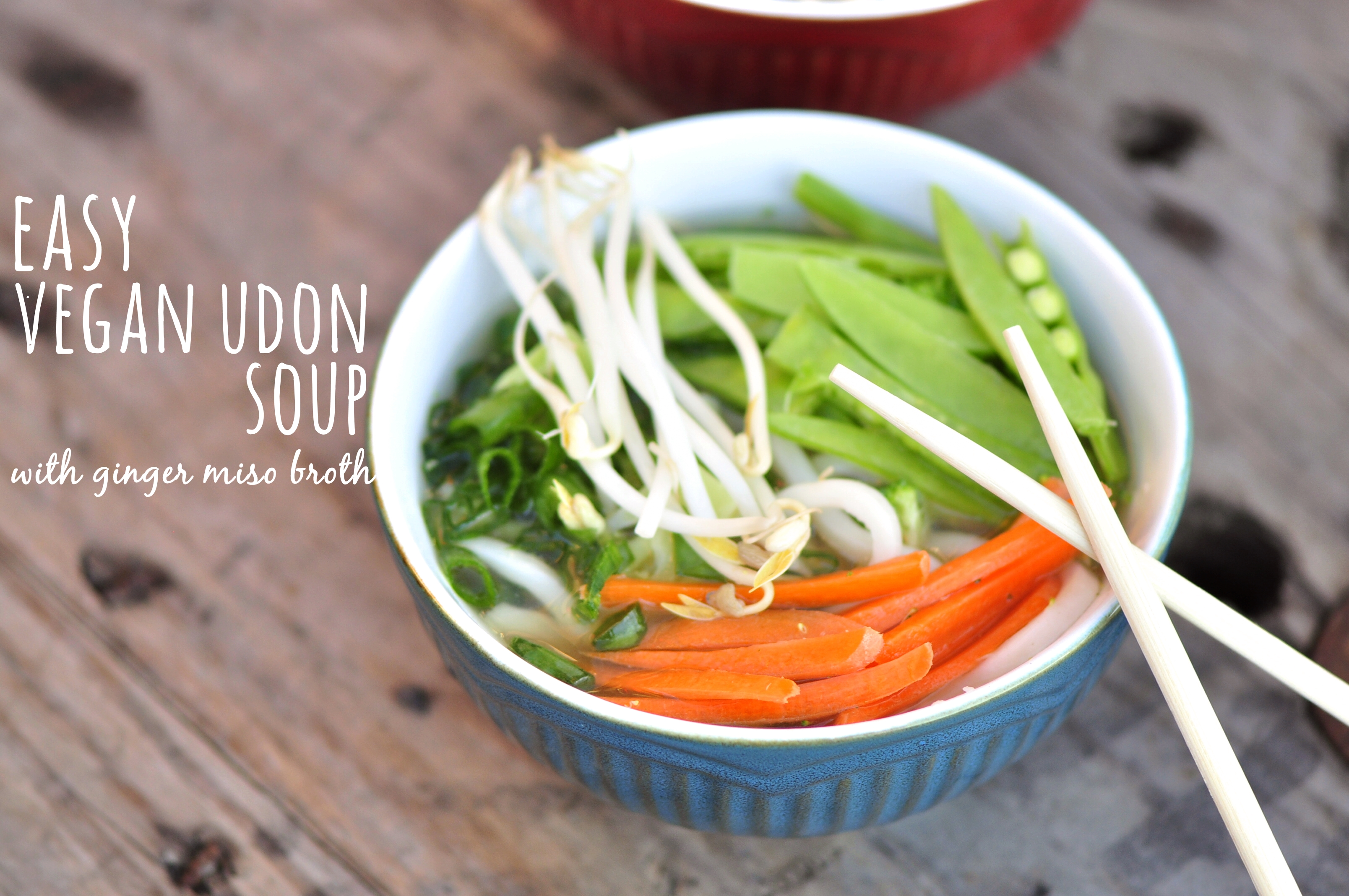 Easy Vegan Udon Soup with Ginger Miso Broth – the vegetarian ginger